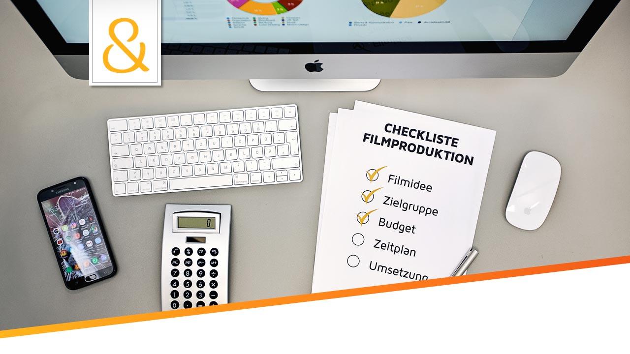 Checkliste Filmproduktion